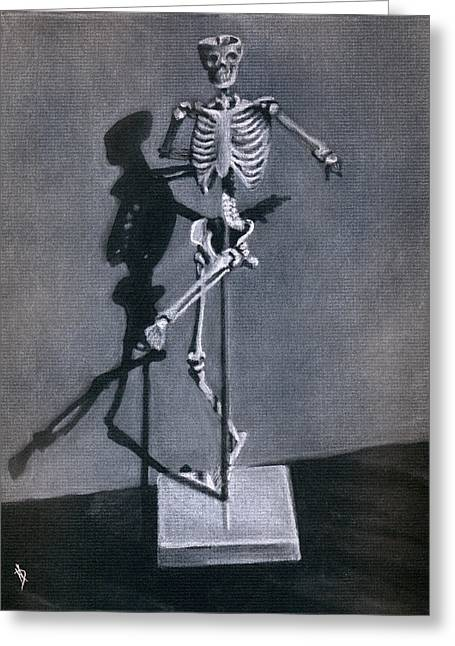 Anatomical Drawings Greeting Cards - Beelzebub Greeting Card by Kd Neeley