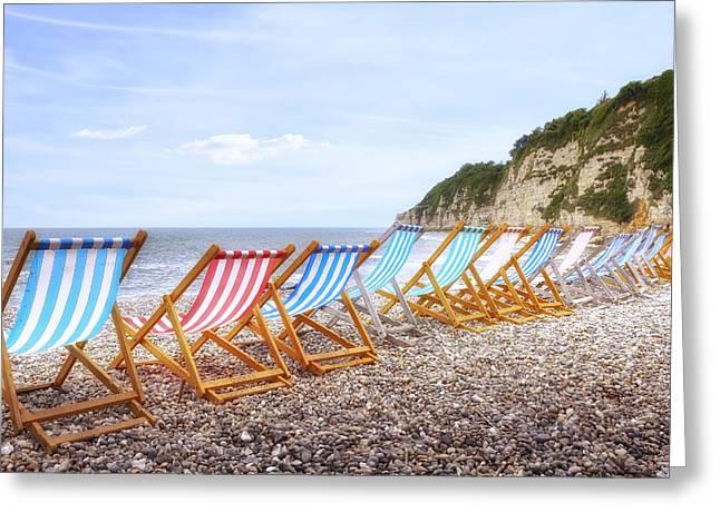 Bay Head Beach Greeting Cards - Beer - Devon Greeting Card by Joana Kruse