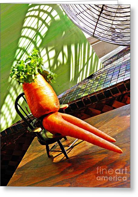 Beer Belly Carrot On A Hot Day Greeting Card by Sarah Loft