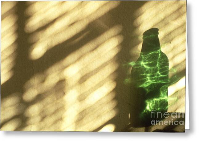 Visual Imagery Greeting Cards - Beer Bottle Greeting Card by Tony Cordoza