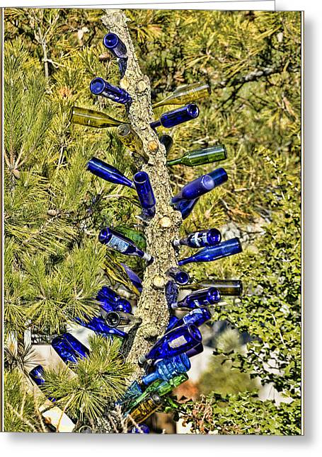 Most Favorite Digital Greeting Cards - Beer bottle tree art Greeting Card by Geraldine Scull