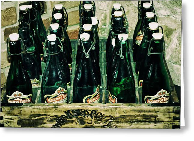 Basement Greeting Cards - Beer Bottles Greeting Card by Mountain Dreams