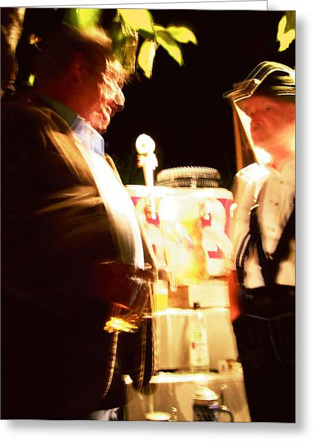 Mietko Greeting Cards - Beer Fest Greeting Card by Mieczyslaw Rudek Mietko