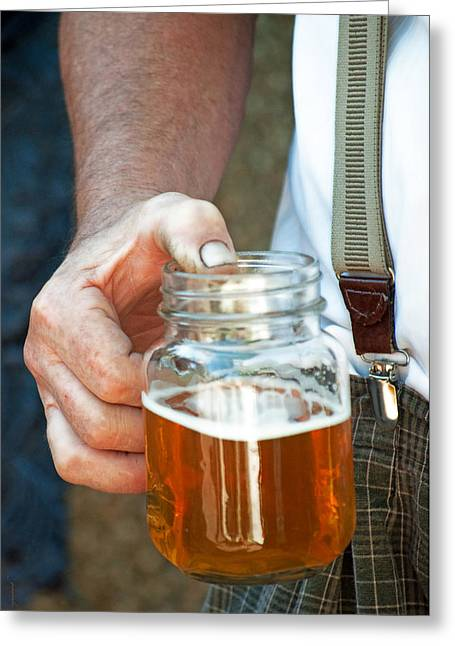 Pbr Greeting Cards - Beer He Drank Greeting Card by Gwyn Newcombe