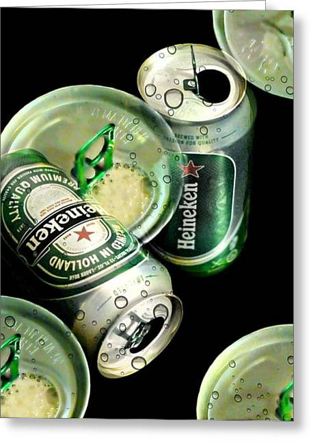 Beer Here Greeting Card by Diana Angstadt
