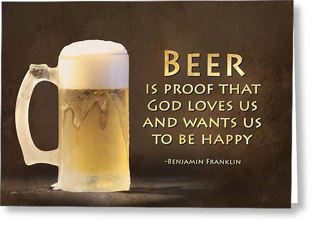 Ldeiter78 Digital Art Greeting Cards - Beer Greeting Card by Lori Deiter