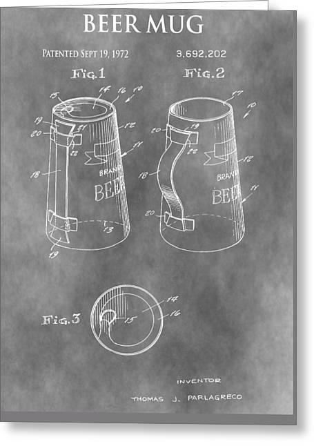 Beer Mug Patent Greeting Card by Dan Sproul
