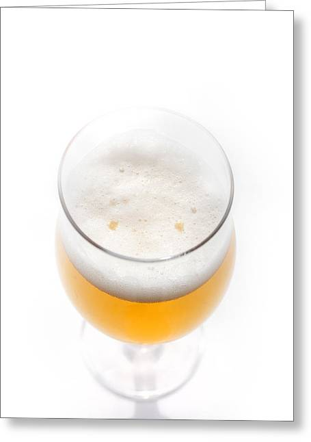 Cup Overflows Greeting Cards - Beer Smiling Greeting Card by Martin Joyful