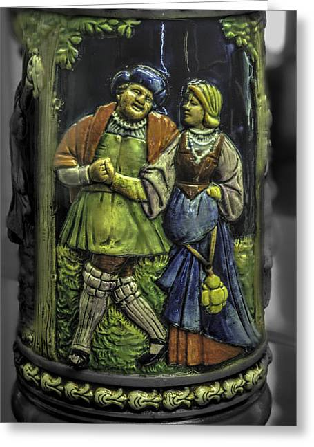Stein Greeting Cards - Beer Stein Art v1 Greeting Card by John Straton