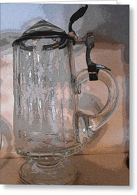 Stein Greeting Cards - Beer Stein Greeting Card by Lovina Wright