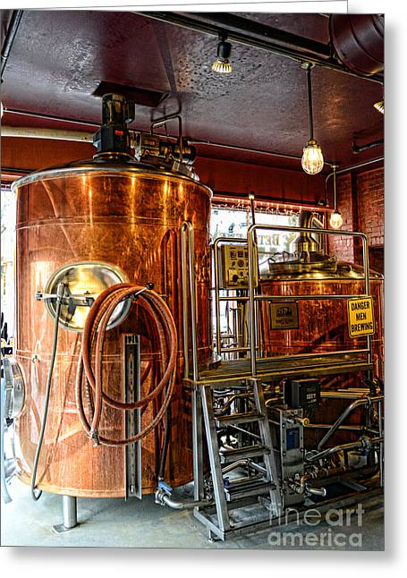 I Drink Greeting Cards - Beer - The Brew Kettle Greeting Card by Paul Ward