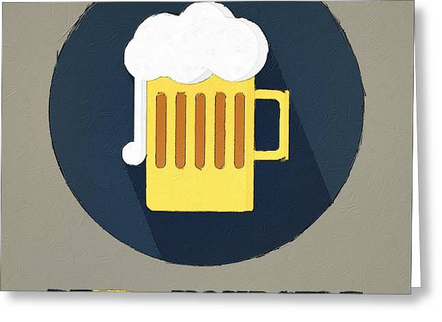 Bier Greeting Cards - Beer Yourself Greeting Card by Florian Rodarte