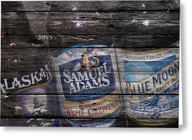 Adam Greeting Cards - Beers Greeting Card by Joe Hamilton