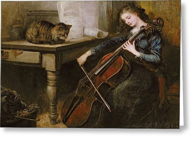 Playing Musical Instruments Greeting Cards - Beethovens Andante Greeting Card by John Alfred Vintner