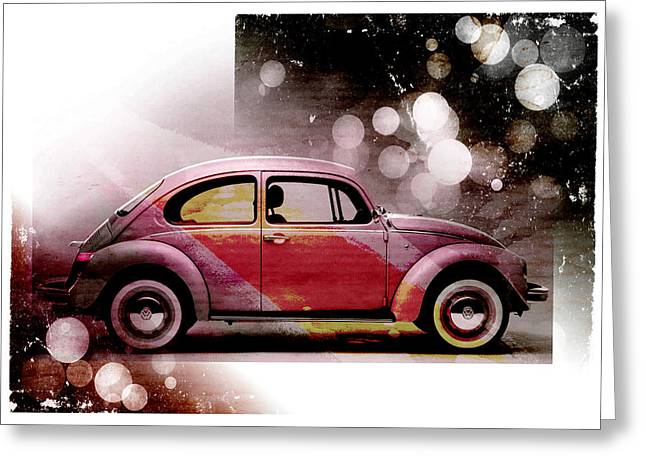 Beetle Car Greeting Cards - Beetle Car Greeting Card by David Ridley