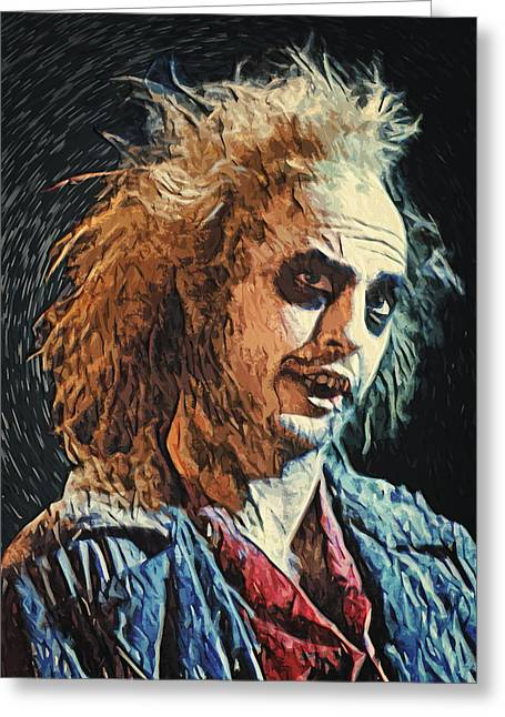 Creepy Digital Art Greeting Cards - Beetlejuice Greeting Card by Taylan Soyturk