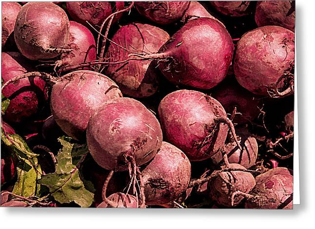 Local Food Greeting Cards - Beets - Earthy Wonders Greeting Card by Kathy Bassett