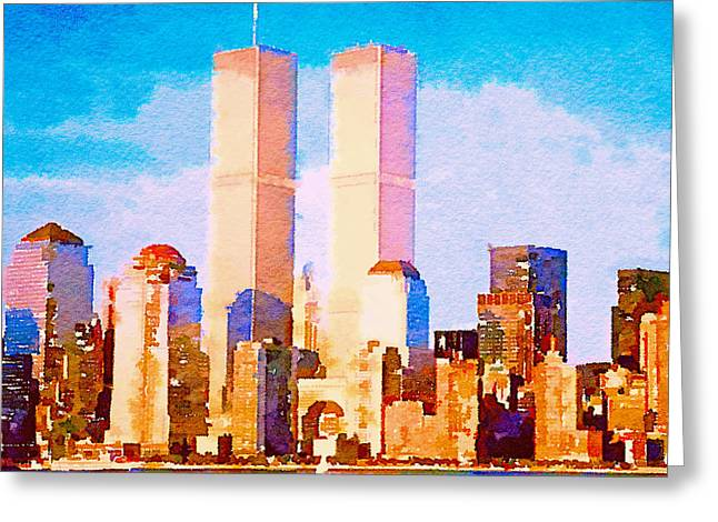 Live Art Greeting Cards - Before 9 11 Greeting Card by Yury Malkov