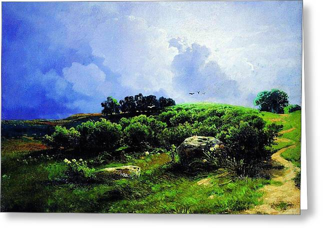 Kilburne Prints Greeting Cards - Before A Thunderstorm1869 Greeting Card by MotionAge Designs