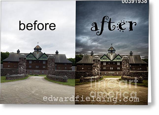 Weathervane Photographs Greeting Cards - Before and After Greeting Card by Edward Fielding