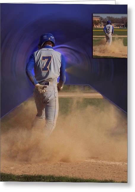 Softball Mitt Greeting Cards - Before and After Sample Art 24 Greeting Card by Thomas Woolworth