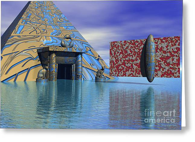 Surreal Geometric Greeting Cards - Before and after us - Surrealism Greeting Card by Sipo Liimatainen