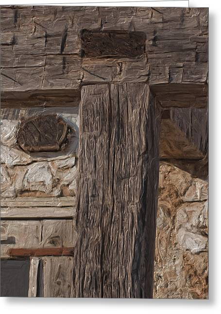 Cabin Window Greeting Cards - Before Power Tools Greeting Card by Jack Zulli