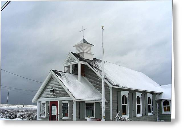 Superstorm Sandy Greeting Cards - Before Sandy Ortleys St Elizabeth Greeting Card by Vincent DeLucia