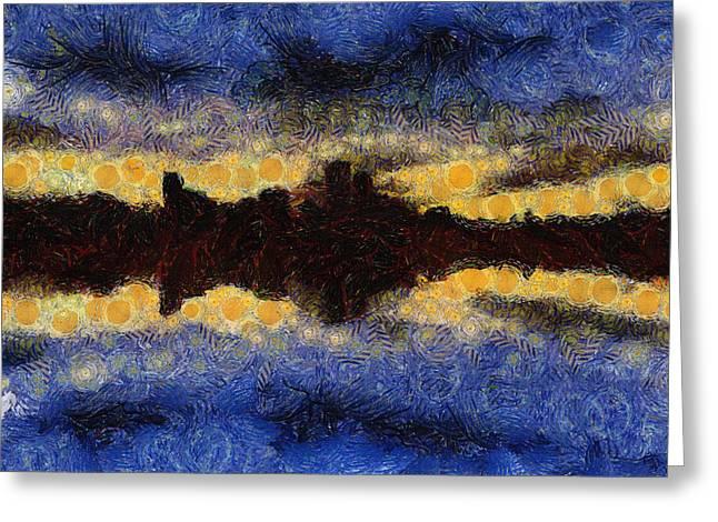 Before Sunset Greeting Card by Ayse Deniz