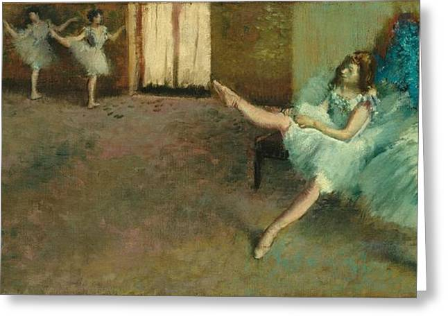 Before The Ballet Greeting Card by Edgar Degas