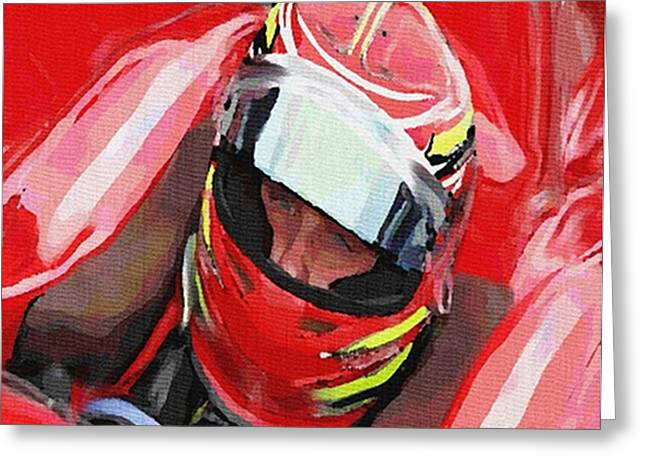 Indy Car Greeting Cards - Before The Green Flag Greeting Card by Dennis Buckman