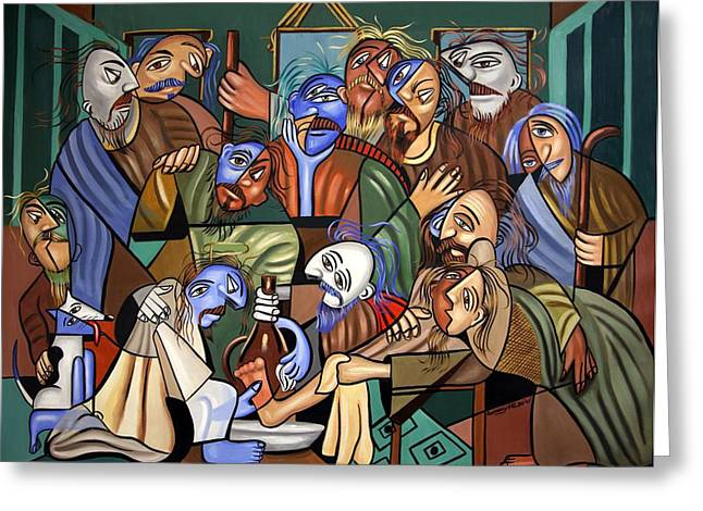 Christian Poster Greeting Cards - Before The Last Supper Greeting Card by Anthony Falbo