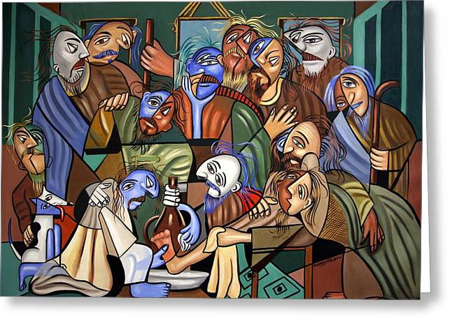 Before The Last Supper Greeting Card by Anthony Falbo