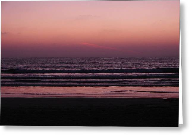 California Beach Greeting Cards - Before the Night Fall Greeting Card by Keisha Marshall