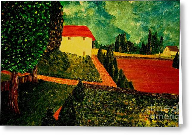 Chateau Greeting Cards - Before the Rain Greeting Card by Bill OConnor