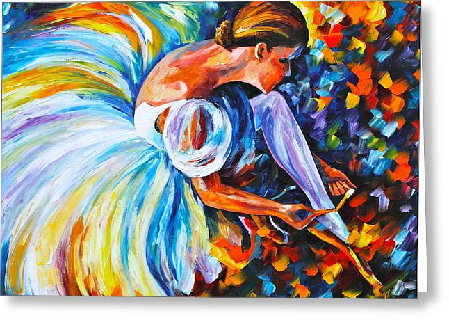 Ballet Dancers Greeting Cards - Before The Show 2  Greeting Card by Leonid Afremov