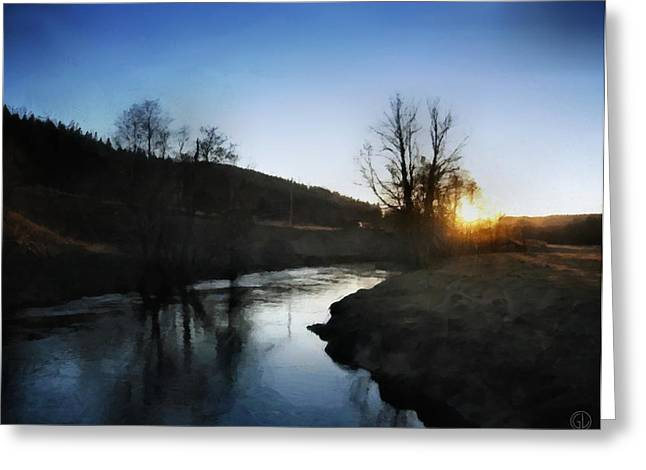 Reflection In Water Digital Greeting Cards - Before the snow Greeting Card by Gun Legler