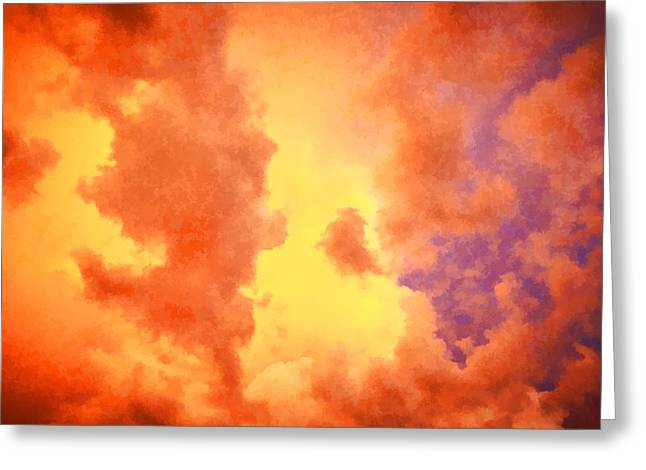 Golden Shower Greeting Cards - Before the Storm Clouds Stratocumulus 2 Greeting Card by Rich Franco