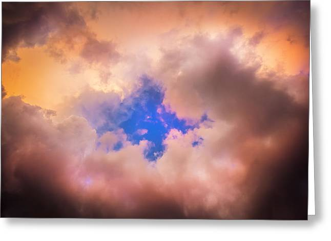 Golden Shower Greeting Cards - Before the Storm Clouds Stratocumulus 4 Greeting Card by Rich Franco