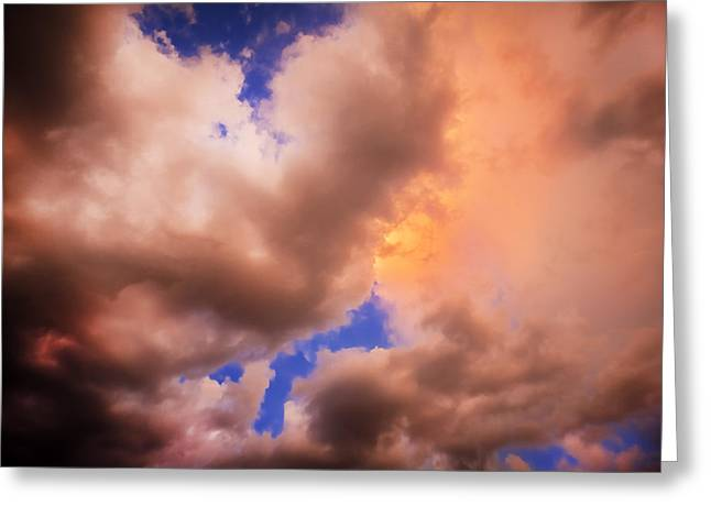 Golden Shower Greeting Cards - Before the Storm Clouds Stratocumulus 5  Greeting Card by Rich Franco