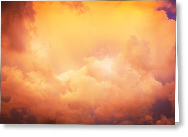 Golden Shower Greeting Cards - Before the Storm Clouds Stratocumulus 8 Greeting Card by Rich Franco