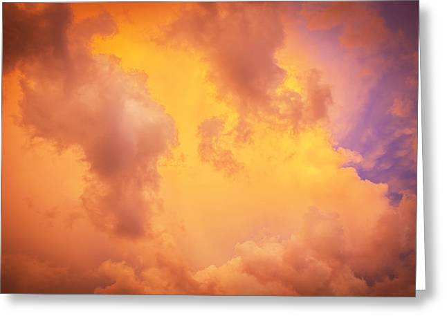 Golden Shower Greeting Cards - Before the Storm Clouds Stratocumulus 9 Greeting Card by Rich Franco