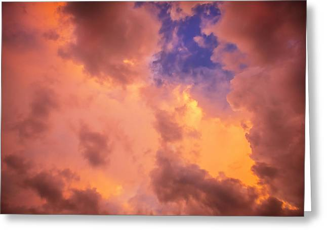 Golden Shower Greeting Cards - Before the Storm Clouds Stratocumulus Greeting Card by Rich Franco