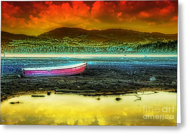 The Hills Greeting Cards - Before the Tide Greeting Card by Mo T