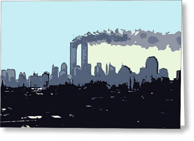 Wtc 11 Mixed Media Greeting Cards - Before we knew Greeting Card by James Kosior
