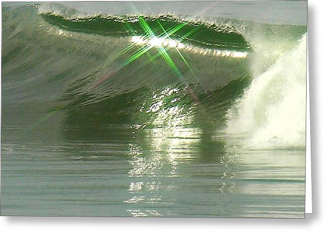 Half Moon Bay Greeting Cards - Begin Wave Reflect Greeting Card by Ru Tover