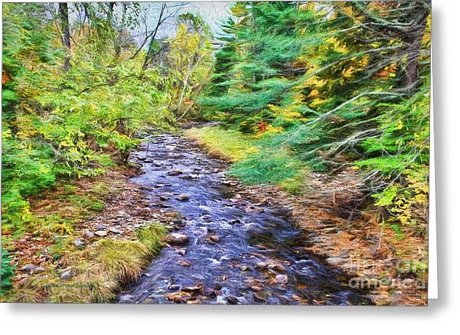 Fall Grass Mixed Media Greeting Cards - Beginning Autumn Changes Greeting Card by Deborah Benoit