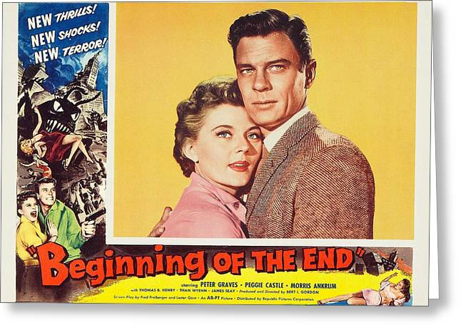 Beginning Of The End 1957 Greeting Card by Mountain Dreams