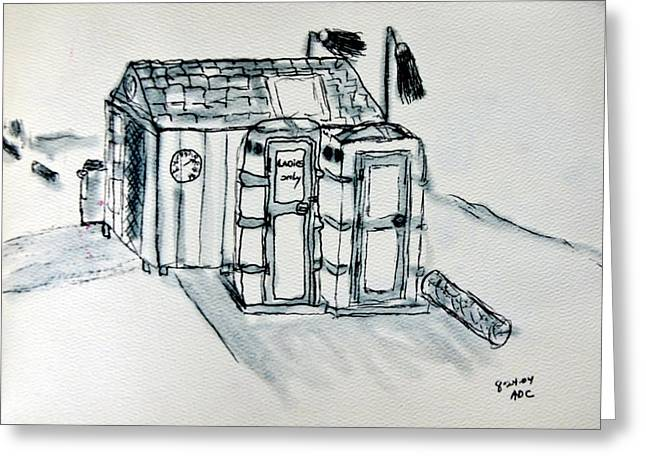 Shed Drawings Greeting Cards - Beginnings 4 Greeting Card by Antonia Citrino
