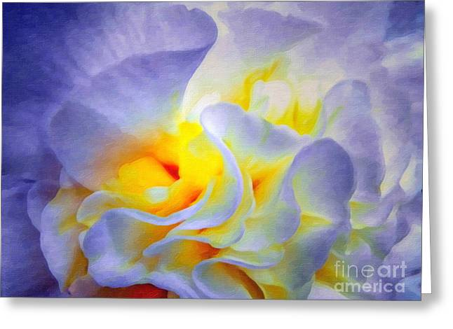 Lianne_schneider Greeting Cards - Begonia Shadows II Painting Greeting Card by Lianne Schneider